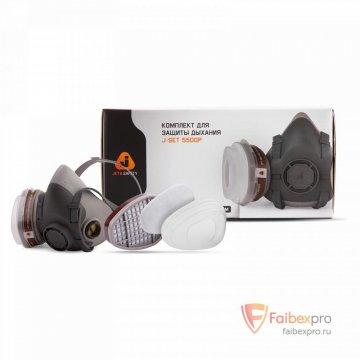 Комплект 5500 полумаска с двойным фильтром для защиты от пыли, аэрозолей, газов. бренда Jeta Safety. Фото №2