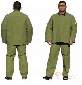 Костюм сварщика с накладками из брезента, мод. КСВ-2 бренда Без бренда. Фото №1