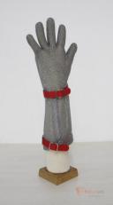 Перчатка защитная  кольчужная  манжет 15 см бренда Без бренда. Фото №1