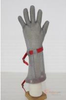 Перчатка защитная кольчужная манжет 8 см бренда Без бренда. Фото №1
