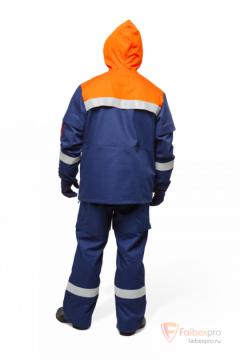 Костюм для защиты от электрической дуги п/энцефалитный (куртка, брюки) 27 кал/см2 бренда Без бренда. Фото №2