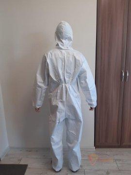 Комбинезон одноразовый Eren Tekstil из материала Tyvek®, медицинский (РУ) с бактериологической защитой бренда Без бренда. Фото №2