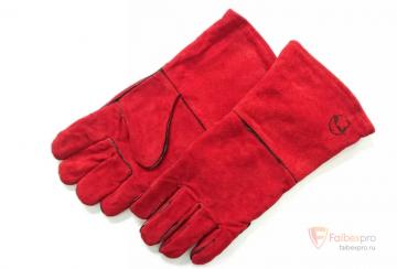 Краги «РосМарка» красные с подкладкой, 35 см (1470) бренда Без бренда. Фото №2
